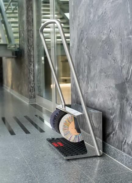 Машина для чистки обуви Heute Polifix 2 Plus Steel Chrome
