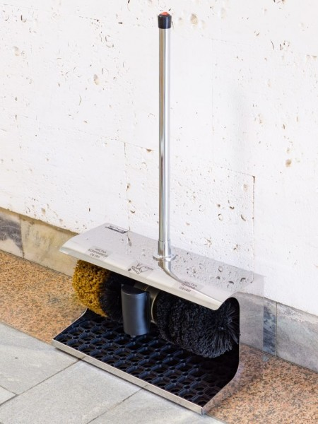 Машинка для чистки обуви Prestige Vertical Steel (нержавейка)