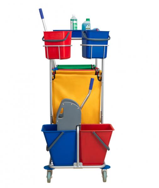 Универсальная тележка для раздельного (дифференцированного) сбора мусора фиолетовая