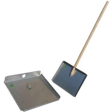 Лопата-движок для снега трёхбортная с накладкой