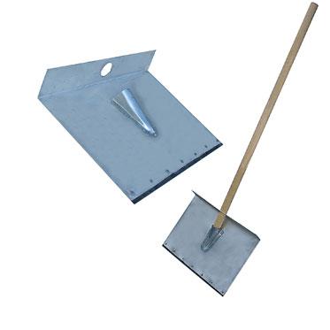 Лопата-движок для снега однобортная с накладкой