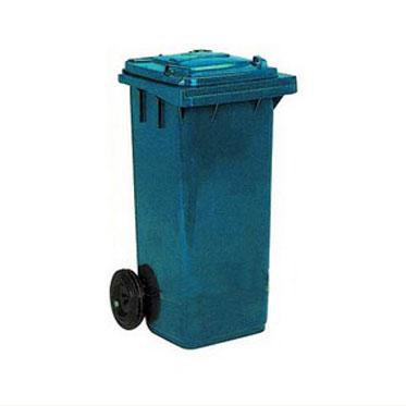 Бак для мусора на колесах 120л. синий