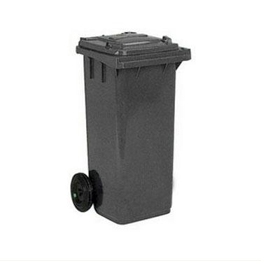 Бак для мусора на колесах 120л. серый