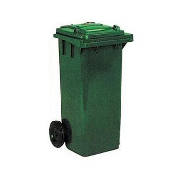 Бак для мусора на колесах зеленый