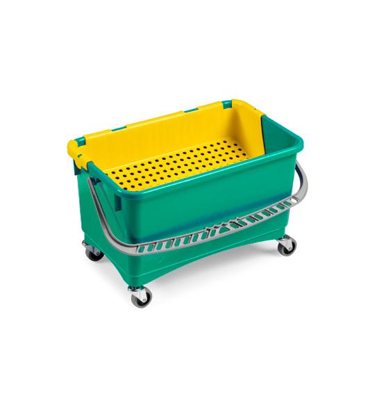 Ведро с пластиковой корзиной TTS Jim 1х28л., зеленое