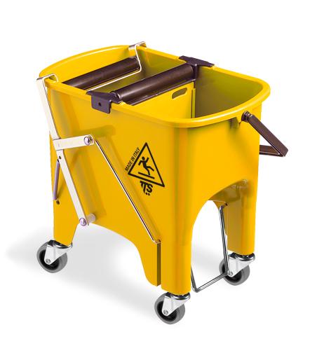 Ведро с отжимом TTS Squizzy Roll 1х15л., желтое