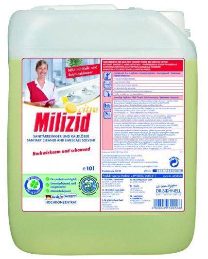 Milizid Кислотное средство для очистки санитарных зон