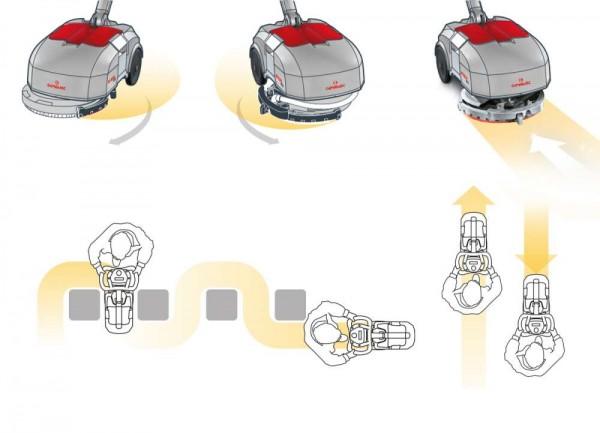 Аккумуляторная поломоечная машина  Comac Vispa XS