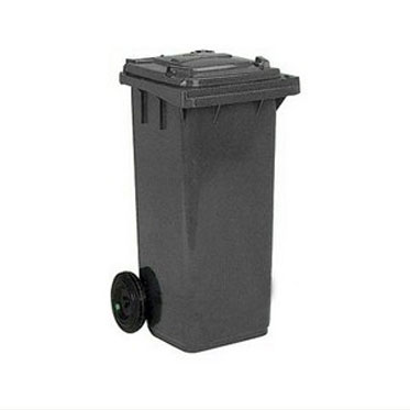 Бак для мусора на колесах 240л. серый
