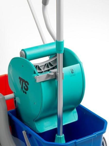 Комбинированная одноведерная тележка TTS Nick Plus 310, 28 л (с отжимом Dry)