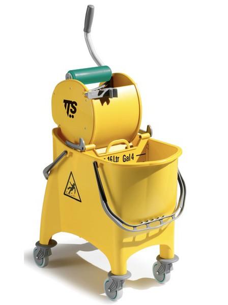 Ведро с отжимом TTS Witty 1х30л., желтое